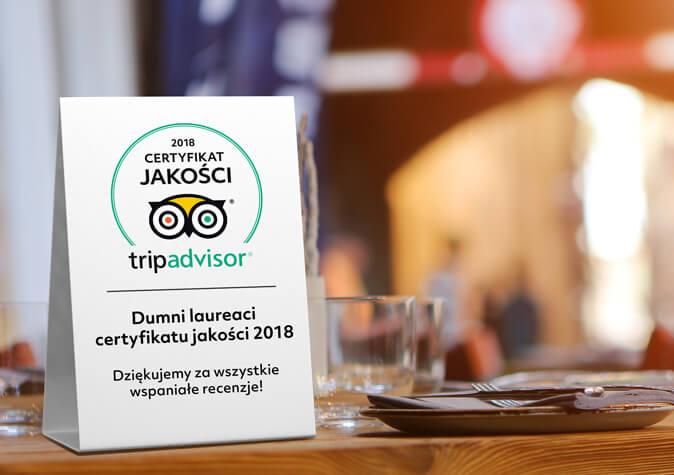 Certyfikat jakości 2018