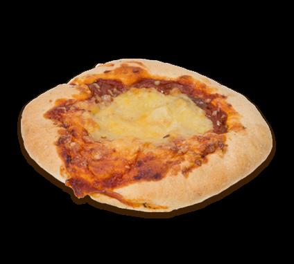 Bułka pizza zgrzybami