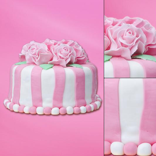 Pastelowy artystyczny tort