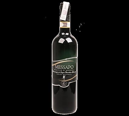 Wino Pliniana Messapo Dolce Naturale Primitivo di Manduria DOCG